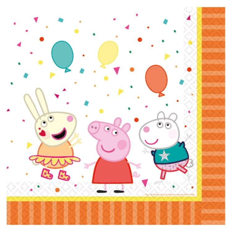 Χαρτοπετσέτες φαγητού 33εκ Peppa Pig /16 τεμ