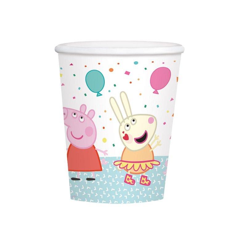 Ποτήρια χάρτινα 250ml Peppa Pig / 8 τεμ