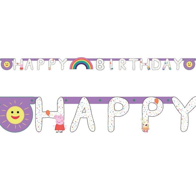 Γιρλάντα γράμματα Peppa Pig Happy Birthday