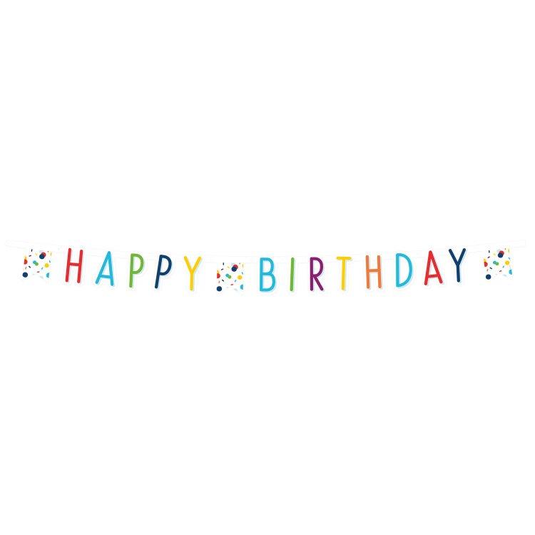 Γιρλάντα Γράμματα Confetti Happy Birthday
