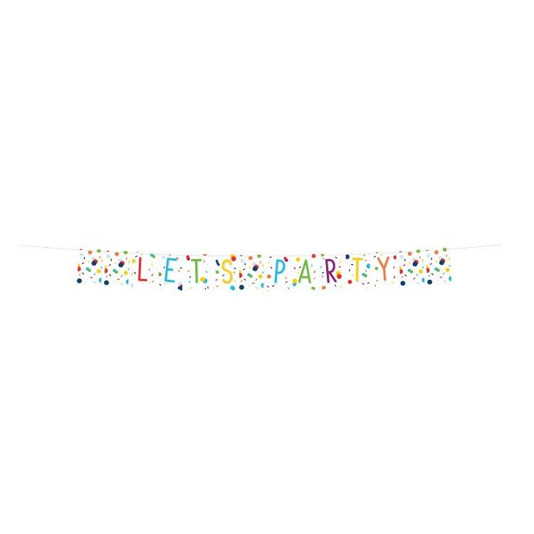 Γιρλάντα Σημαιάκια Confetti Birthday