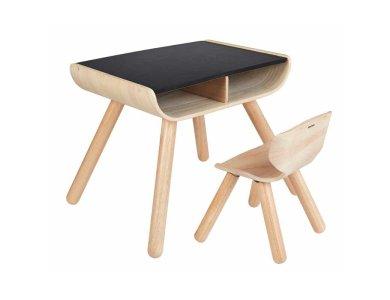 Τραπέζι & καρέκλα - μαύρο