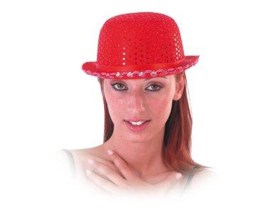 Αποκριάτικο Αξεσουάρ Καπέλο Σαρλώ Κόκκινο