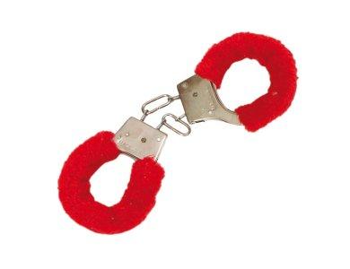 Αποκριάτικο Αξεσουάρ Χειροπέδες με γουνάκι κόκκινες 25cm