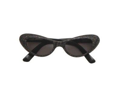 Αποκριάτικο Αξεσουάρ Γυαλιά με γκλίτερ Μαύρο