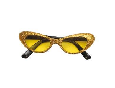 Αποκριάτικο Αξεσουάρ Γυαλιά με γκλίτερ Χρυσό