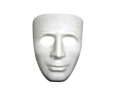 Αποκριάτικο Αξεσουάρ Μάσκα Λευκή