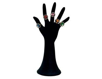 Αποκριάτικο Αξεσουάρ Δαχτυλίδια Σήμα Ειρήνης