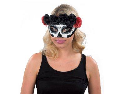 Αποκριάτικο Αξεσουάρ Μάσκα ματιών με Λουλούδια