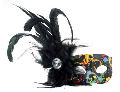 Αποκριάτικο Αξεσουάρ Μάσκα ματιών Πολύχρωμη με Φτερό