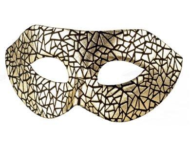 Αποκριάτικο Αξεσουάρ Μάσκα ματιών χρυσή