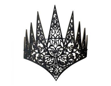 Αποκριάτικο Αξεσουάρ Στέμμα Βασίλισσας με λάστιχο μαύρο