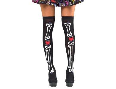 Αποκριάτικο Αξεσουάρ Κάλτσες με Κόκκαλα