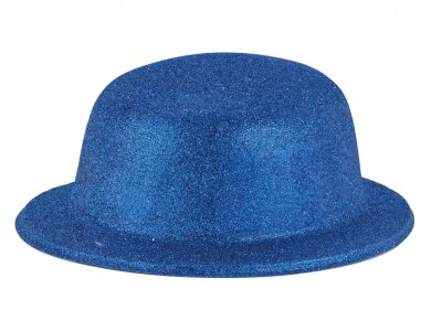 Αποκριάτικο Αξεσουάρ Καπέλο με γκλίτερ Φούξια