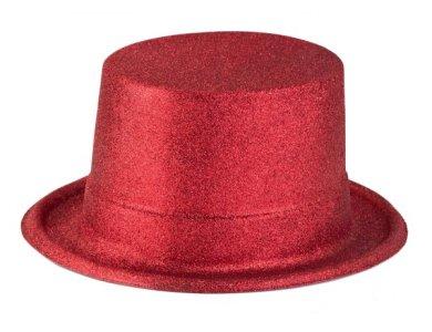 Αποκριάτικο Αξεσουάρ Καπέλο Ημίψηλο με γκλίτερ Μαύρο