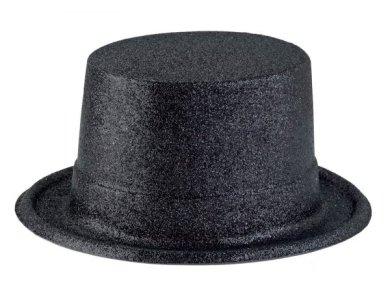 Αποκριάτικο Αξεσουάρ Καπέλο Ημίψηλο με γκλίτερ Μπλε