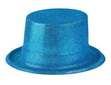 Αποκριάτικο Αξεσουάρ Καπέλο Ημίψηλο με γκλίτερ Φούξια