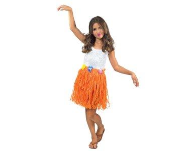 Αποκριάτικο Αξεσουάρ Φούστα Χαβανέζικη Παιδική Πορτοκαλί