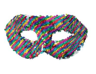 Αποκριάτικο Αξεσουάρ Μάσκα με χρωματιστές παγιέτες