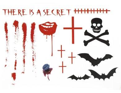 Αποκριάτικο Αξεσουάρ Τατουάζ Τρόμου σχέδιο 1