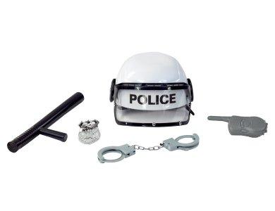Αποκριάτικο Αξεσουάρ Σετ Αστυνομικού Λευκό 5τμχ