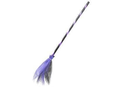Αποκριάτικο Αξεσουάρ Σκούπα Μάγισσας Δίχρωμη πορτοκαλί
