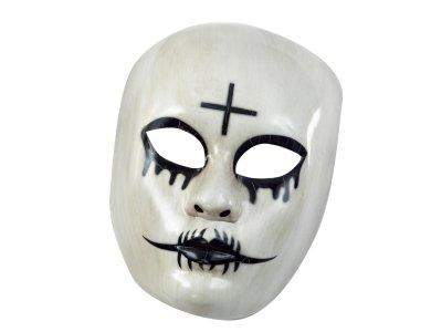 Αποκριάτικο Αξεσουάρ Μάσκα Ασπρόμαυρη με σταυρό