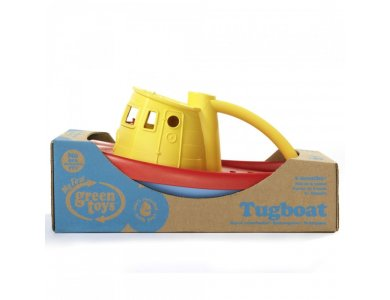 Green Toys - Ρυμουλκό Πλοίο Κίτρινο