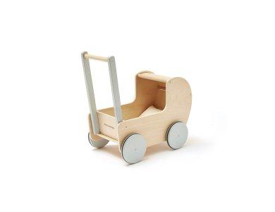 KIDS CONCEPT. Ξύλινο καρότσι για κούκλες (φυσικό)