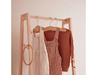 KIDS CONCEPT. Σετ 3 κρεμάστρες ρούχων SAGA (φυσικό)