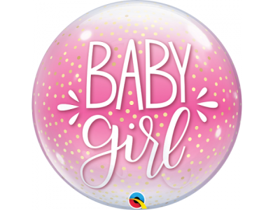 Baby Girl Pink & Confetti Dots