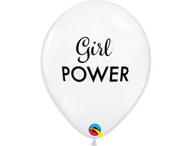 """Μπαλόνια Λάτεξ 11"""" Girl Power Diamond Clear Jewel / 25 τεμ"""