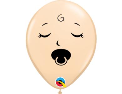 """Μπαλόνια Λάτεξ 5"""" Blush Πρόσωπο για Μωρό με πιπίλα / 100 τεμ."""