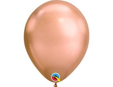 """Μπαλόνια Λάτεξ 7"""" Ροζ Χρυσό Chrome /100 τεμ"""