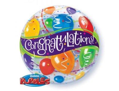 Bubble μονό Congratulations Balloons