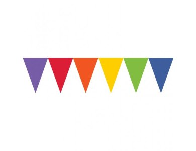 Γιρλάντα Σημαιάκια Χάρτινη Πολυχρωμη 4,5 Μ