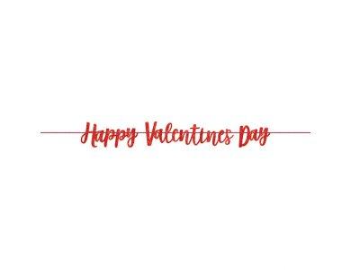 Γιρλάντα Γράμματα Valentines Glitter