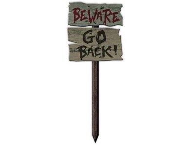 Beware Go Back Garden Signs