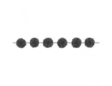 Γιρλάντα Fluffy Μαυρη 3.65Μ 2τεμ.