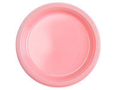 Πιάτα 17,7εκ πλαστικά Ροζ /10 τεμ