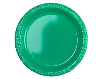 Πιάτα 22,8εκ Πλαστικά Πράσινα /10 τεμ