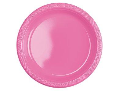 Πιάτα 22.8εκ πλαστικά Bright Pink - Φούξια /10 τεμ