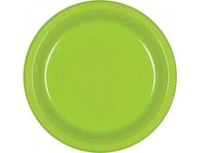 Πιάτα 22,8εκ πλαστικά Λαχανί /10 τεμ