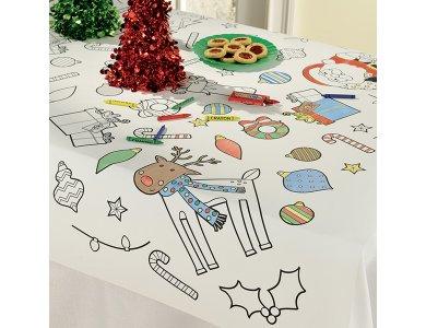 Τραπεζομάντηλο για Ζωγραφική Χριστουγγενιάτικο