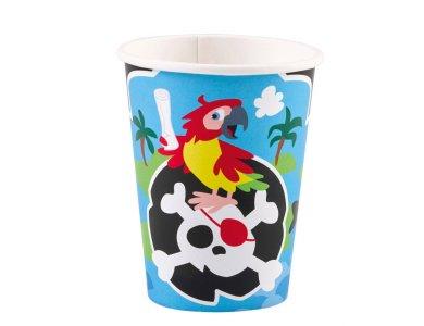Ποτήρια χάρτινα 250ml Pirate /8 τεμ