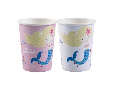 Ποτήρια χάρτινα 250ml Be a Mermaid 8τεμ.
