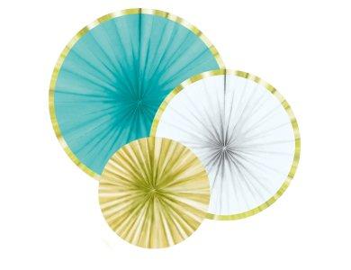Διακοσμητικές Βεντάλιες χάρτινες Pineapple Vibes ασσορτί