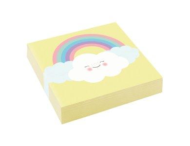 Χαρτοπετσέτες Γλυκού 25εκ. Rainbow & Cloud 20τεμ.