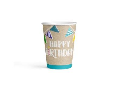 Ποτήρια χάρτινα 250ml My Birthday Party /8 τεμ