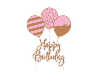 Κερί Ροζ Χρυσό Birthday